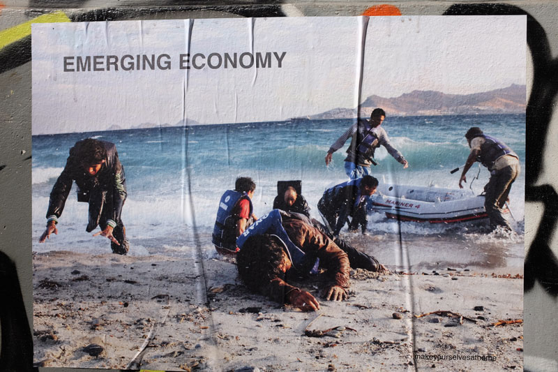 """""""Emerging Economy"""" poster by Depression Era Collective"""